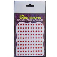 100 X Red Rhinestones - Self Adhesive - UK Card Crafts